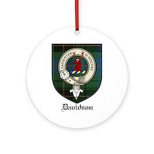 Davidson Clan Crest Tartan Ornament (Round)