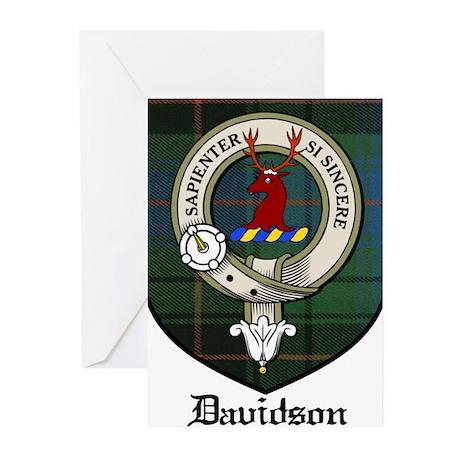 Davidson Clan Crest Tartan Greeting Cards (Pk of 1