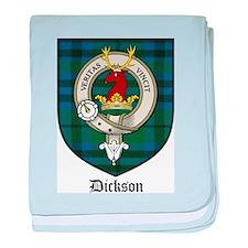 Dickson Clan Crest Tartan baby blanket