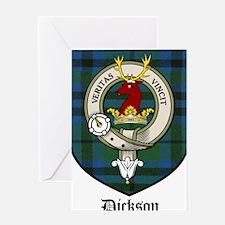 Dickson Clan Crest Tartan Greeting Card