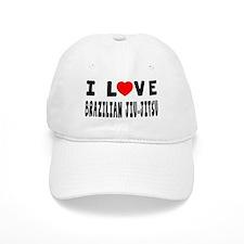 I Love Brazilian Jiu-Jitsu Baseball Cap