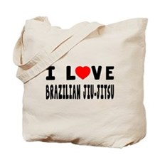 I Love Brazilian Jiu-Jitsu Tote Bag