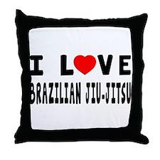 I Love Brazilian Jiu-Jitsu Throw Pillow