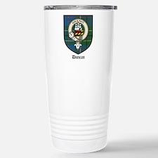 Duncan Clan Crest Tartan Travel Mug