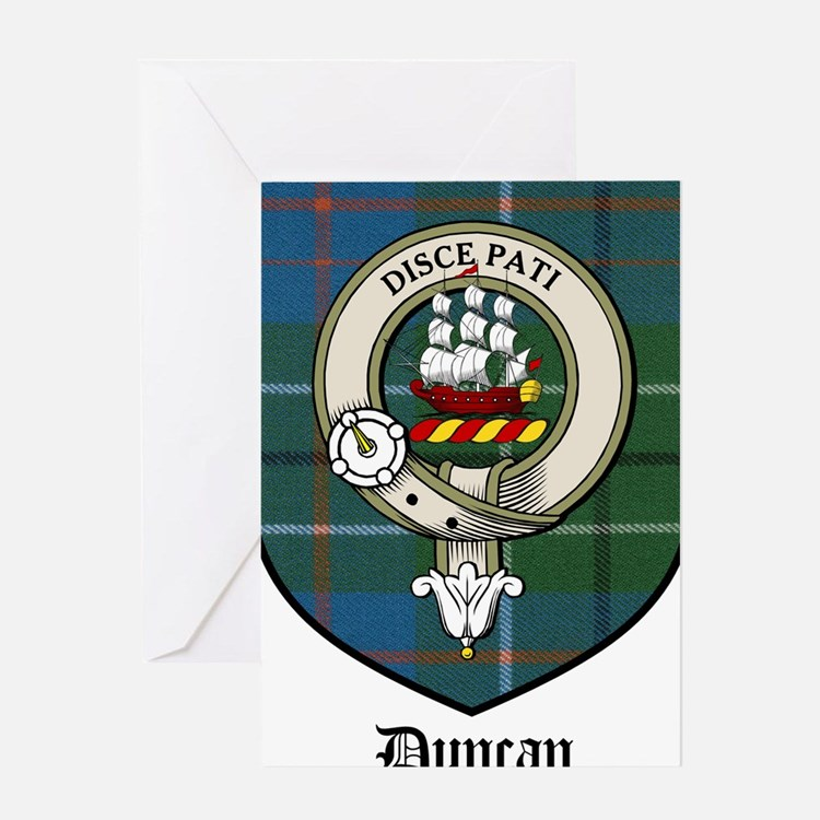 Duncan Clan Crest Tartan Greeting Card