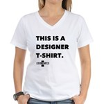 SKULL AND CAKE DESIGNER Women's V-Neck T-Shirt