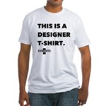 SKULL AND CAKE DESIGNER Fitted T-Shirt