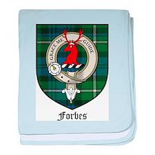 Forbes Clan Crest Tartan baby blanket
