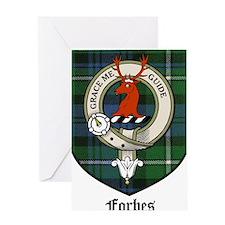 Forbes Clan Crest Tartan Greeting Card