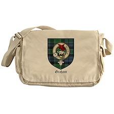 Graham Clan Crest Tartan Messenger Bag
