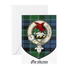 Graham Clan Crest Tartan Greeting Card