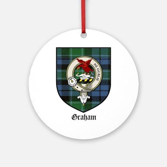 Graham Clan Crest Tartan Ornament (Round)