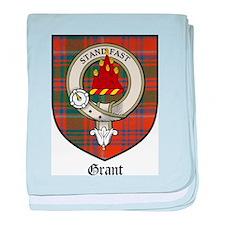 Grant Clan Crest Tartan baby blanket
