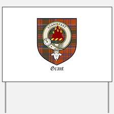 Grant Clan Crest Tartan Yard Sign