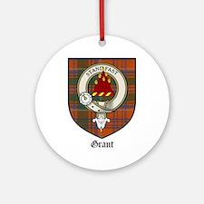 Grant Clan Crest Tartan Ornament (Round)