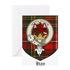Hay Clan Crest Tartan Greeting Card