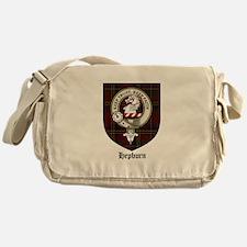 Hepburn Clan Crest Tartan Messenger Bag