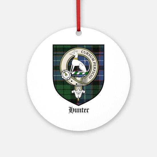 Hunter Clan Crest Tartan Ornament (Round)