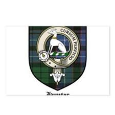Hunter Clan Crest Tartan Postcards (Package of 8)