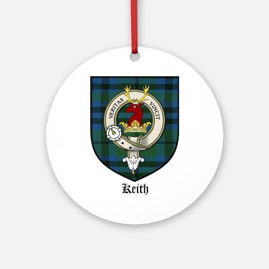 Keith Clan Crest Tartan Ornament (Round)