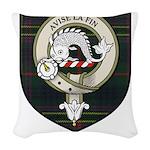 Kennedy Clan Crest Tartan Woven Throw Pillow