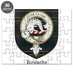 Kennedy Clan Crest Tartan Puzzle