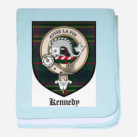 Kennedy Clan Crest Tartan baby blanket