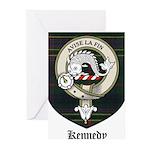 Kennedy Clan Crest Tartan Greeting Cards (Pk of 20