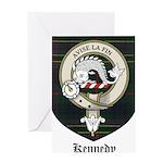 Kennedy Clan Crest Tartan Greeting Card