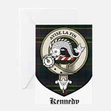 Kennedy Clan Crest Tartan Greeting Card