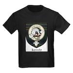 Kennedy Clan Crest Tartan Kids Dark T-Shirt