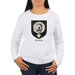 Kennedy Clan Crest Tartan Women's Long Sleeve T-Sh