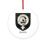 Kennedy Clan Crest Tartan Ornament (Round)