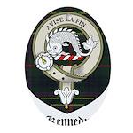 Kennedy Clan Crest Tartan Ornament (Oval)