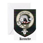Kennedy Clan Crest Tartan Greeting Cards (Pk of 10