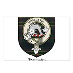 Kennedy Clan Crest Tartan Postcards (Package of 8)