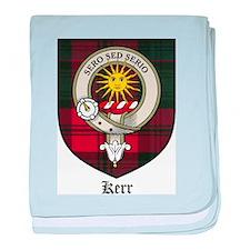 Kerr Clan Crest Tartan baby blanket