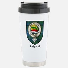 Kirkpatrick Clan Crest Tartan Travel Mug
