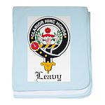 Leavy Clan Crest badge baby blanket