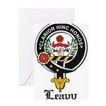 Leavy Clan Crest badge Greeting Card
