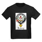 Leavy Clan Crest badge Kids Dark T-Shirt
