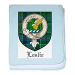Leslie Clan Crest Tartan baby blanket