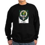 Leslie Clan Crest Tartan Sweatshirt (dark)