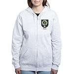 Leslie Clan Crest Tartan Women's Zip Hoodie