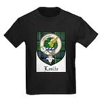 Leslie Clan Crest Tartan Kids Dark T-Shirt