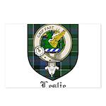 Leslie Clan Crest Tartan Postcards (Package of 8)