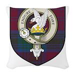 Lindsey Clan Crest Tartan Woven Throw Pillow