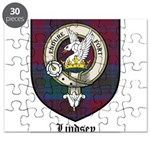 Lindsey Clan Crest Tartan Puzzle