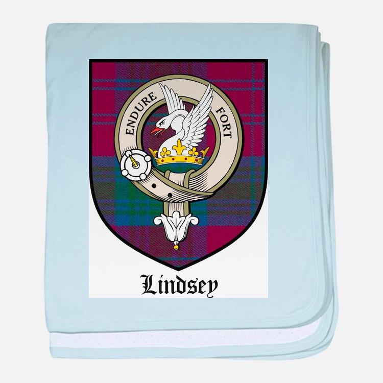 Lindsey Clan Crest Tartan baby blanket