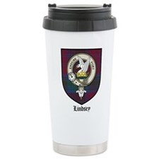 Lindsey Clan Crest Tartan Travel Mug